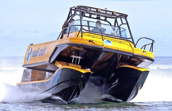 サスペンション付きのボートがかなり快適そう