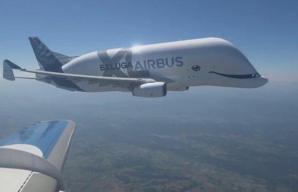 シロイルカのような大型貨物輸送機「ベルーガ XL」