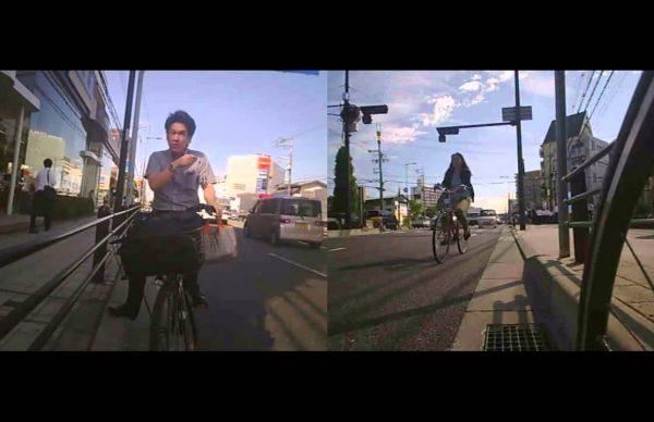 自転車で逆走して、順走車に道路側に避けろと逆切れ