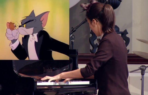 トムとジェリーの一場面をピアノで生演奏